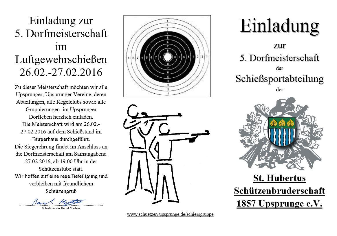 Flyer Einladung zur Dorfmeisterschaft 2016 Seite 1