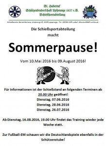 Sommerpause 2016