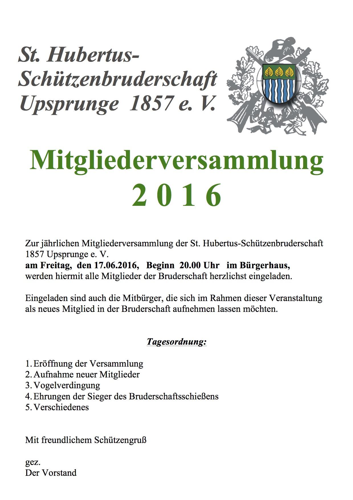 Mitgliederversammlung Einladung 2016 Kopie